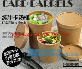 China Custom printed disposable hot soup bowls, kraft paper soup cup,16oz Custom logo printed disposable kraft paper soup cup supplier