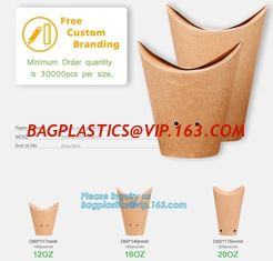 China Custom printed french fries crepe holder food packaging paper cones,Food paper cones french fry crepe cone holder, crepe supplier