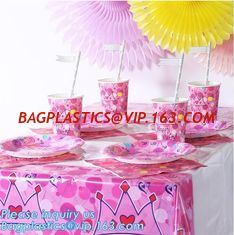 China Plastic PVC Transparent Round Table Cover Cloth,party table cover plastic tablecloth,Heavy Duty Disposable Plastic Table supplier