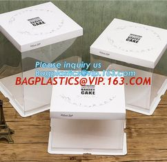 Cheap Custom Cupcake Handle Box Cake Boxes Wholesale,Take