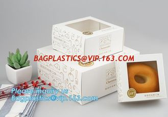 China Kraft paper clear window biscuit / cookie / cake box,custom made fancy Luxury cardboard Coated paper cake box wholesale supplier