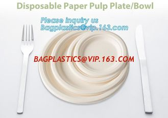 "China Ecofriendly Paper Pulp Sugarcane Bagasse 10"" Round Plates,dessert dinner deep thali paper compostable bioplastic bagasse supplier"