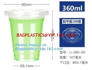 China Disposable 100% compostable wholesale CPLA lids for soup bowls,PLA 8oz biodegradable paper cup with lid, bagplastics pac supplier