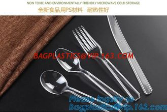 China Disposable Flatware Set-Heavyweight Plastic Cutlery 100 Forks, 100 Spoons, 100 Knives,PP Disposable Plastic Cutlery ps supplier