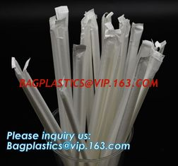 China Biodegradable and compostable food grade PLA plastic drinking straw, individual pack,Eco-friendly biodegradable plastic supplier