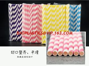 China Hot sale biodegradable bar thick paper straw,biodegradable drinking bamboo design paper straws,Paper straw customized lo supplier