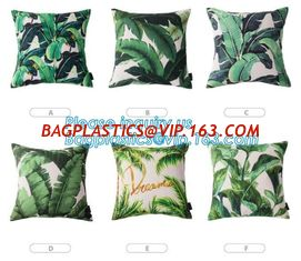 China Tropical leaf latest design digital printing cushion cover wholesale decorative pillow covers,Latest design custom print supplier