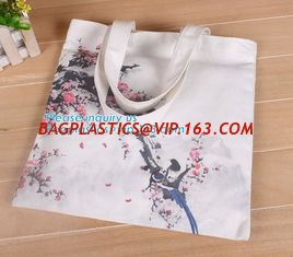 China College student's bag custom logo large space plain canvas tote bag,Promotional printed canvas wine custom cotton shoppi supplier