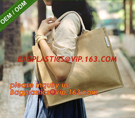 China Heavy hold support Jute bag OEM Customized printing waterproof and reusable jute shopping bag with inner JUTE BAGS CARRI supplier
