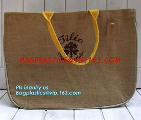 China Reusable Jute Shopping Bag With Logo Wholesale,Wholesale tote plain shopping jute bag,eco friendly small standard size f supplier