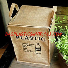 China Private Label Portable Foldable Storage Woven Laundry Jute Basket Bin,Cotton Rope Storage Basket/ Jute Woven Planter Bas supplier