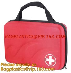 China Red pu leather waterproof mini eva first aid kit case,first aid box plastic case carrying case,Medical Multi-functional supplier
