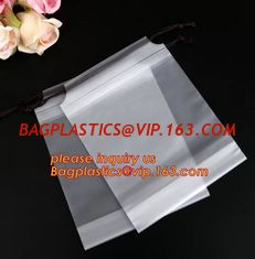 China Biodegradable Dry Cleaning Shop Disposable Plastic Laundry Bag Poly Drawstring Bags,Poly Plastic Drawstring Hotel Laundr supplier