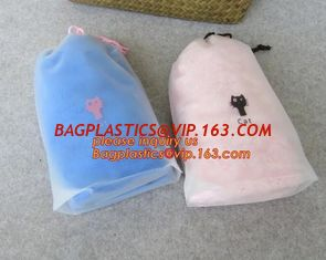China Biodegradable drawstring laundry poly bag,Cotton string LDPE plastic laundry bag custom poly bag drawstring bag bagease supplier