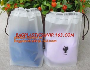 China Biodegradable Cotton string LDPE plastic laundry bag custom poly bag drawstring bag,Customized Logo Printed Poly Drawstr supplier