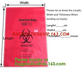 China Aerohazard Biological Hazard Bag 240x160mm,Red Medical Waste Disposal Bags | US Bio-Clean,Biohazard Bags - Biohazard Dis supplier