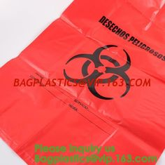China Waste Disposal Guide for Research Labs,HDPE Biological Hazard bags,Biological Hazard Waste Bags, 600 x 500mm, Yellow-50/ supplier