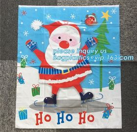 China Large Santa Sacks Cotton Bags 100%Cotton Christmas Drawstring Bag,Christmas socks gift bag,Santa Sack For Decoration pac supplier