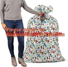 China Merry Christmas Santa Claus Pattern Jumbo Bicycle / Bike Sack Gift Bag For Children 60 X 72 inch,Sacks For Extra Large P supplier
