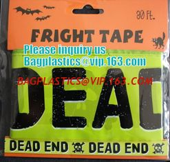 China Rolls Halloween Caution Party Tape,Party halloween banner , plastic streamer caution party tape, fright tape bagease supplier