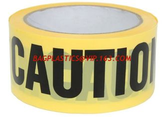 China Yellow PE Warning Tape(Barrier Caution Tape),Red DANGER Tape Caution Tape Roll 3-Inch Non-Adhesive Sharp Red Color Warni supplier