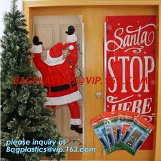 China China supplier Party Accessory Happy Christmas House Decoration Door Cover door poster,door covers for christmas decorat supplier