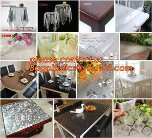 China Disposable Tablecloths Plastic Tablecloths Thicken Tablecloths White Film Transparent Waterproof Table Cloth BAGEASE supplier
