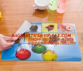 China Wholesale price dining mat PVC Fabric silicone placemat table mat,tableware accessories round plastic placemat PVC water supplier