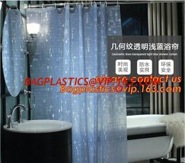 China Mould Proof Waterproof white and black trellis design pvc custom bath curtain printed shower curtain, High quality Polye supplier