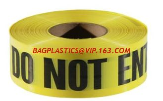 China Caution Warning DANGER Tape Caution Tape Roll 3-Inch Non-Adhesive Sharp Red Color Warning Tape,Safety Caution PVC Materi supplier