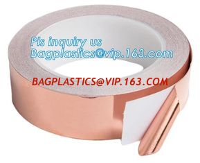 China Conductive copper foil tape 25m 50m for EMI shielding welding, electrical maintenance conductive copper foil tape bageas supplier