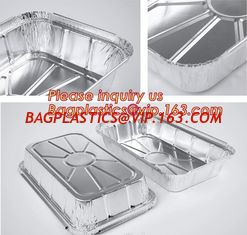 China Takeaway oven safe fast food take out disposable aluminum foil container,compartment round airline food aluminum foil co supplier