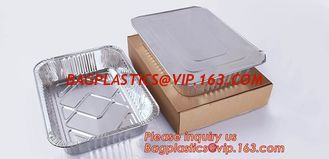 China Rectangular shape excellent quality Aluminium Material food grade disposable aluminium foil container BAGEASE PACKAGE supplier