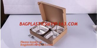 China Disposable Golden Square Aluminium Foil Container For Food Packaging,Rectangular Aluminium Foil Food Container, Airlines supplier