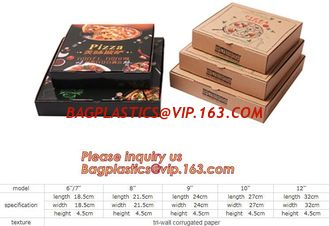 China Kraft Pizza Paperboard Take Out Containers cheap pizza delivery box Packing Boxes,recyclable Pizza packaging boxes bagea supplier