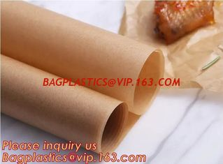China Bleached with Unbleached Greaseproof Paper for food wrapping,Environmental friendly and green greaseproof food packaging supplier
