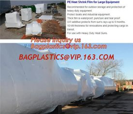 China biodegradable shrink wrap 200 mic construction industrialJumbo construction industrial uv shrink wrap for yacht covering supplier