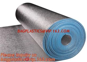 China Aluminum foil coated with 3mm EPE foam for thermal insulation,Thermal break foil covered foam insulation board,bagease supplier