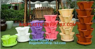 China Stackable Stack Garden Planter Herb tomota pot Flower Pots Indoor Outdoor,Garden Home Indoor Goods Planters,Plant Flower supplier