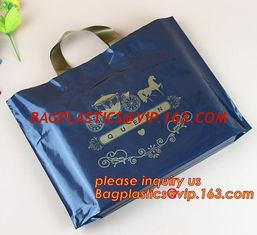 China eco-friendly plastic LDPE HDPE soft loop handle bag,Soft Loop Handle Bags/High quality white soft loop handle plastic ba supplier