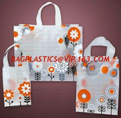 China Wholesale Die Cut Handle Eco-Friendly Custom Design Shopping Gravure Printing Groceries Plastic Bags With Logo bagease supplier