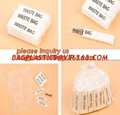 China Individually packed waste bag, individually packed, single fold,100% fully biodegradable die cut handle plastic shopping supplier