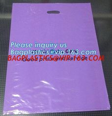 China Custom print ldpe hdpe die cut handle carry poly apparel plastic merchandise gift packaging polythene shopping bag with supplier