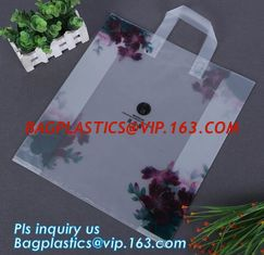 China soft loop handle colour plastic hdpe shopping bag,loop handle plastic bag handle plastic shopping with soft handle bag supplier