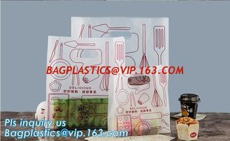 China Custom logo HDPE/LDPE Die Cut Patch Handle Custom Plastic Merchandise Retail Bags,100% oxo biodegradable printed die cut supplier