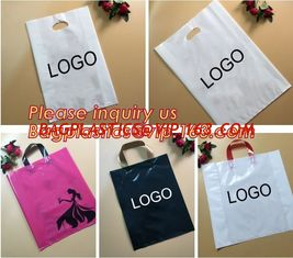 China Biodegradable ldpe soft loop handle plastic bags with customized logo printed,Corn Starch Made Printed Biodegradable Sof supplier