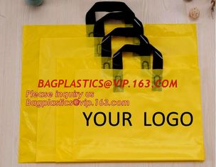 China best selling biodegradable soft loop handle bag with EN13432 BPI OK compost Home ASTM D6400 certificates,bagease,bagplas supplier