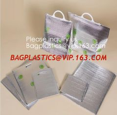 China Extra Strength Zipper and Thick Insulation Food Delivery Bag,Picnic Insulated Cooler Bag Tote Thermal insulation Lunch B supplier