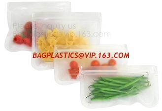 China Reusable cheap wholesale plastic peva food storage bag,Reusable silicone safe PEVA food storage sandwich bag bagplastics supplier