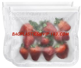 China PLA compostable plastic fresh vegetables packaging bag,Custom Logo Ziplock Reusable Silicone Fresh Sandwich Cooking Bag supplier